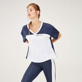 4aee927ee Tommy Hilfiger Colour-Blocked Logo V-Neck T-Shirt