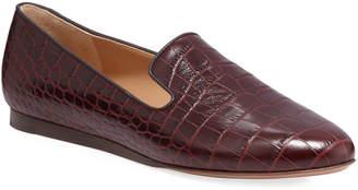 Veronica Beard Griffin Crocodile-Embossed Loafers