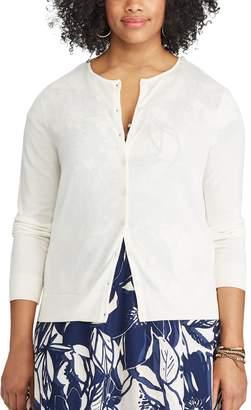 Chaps Plus Size Button-Front Cardigan