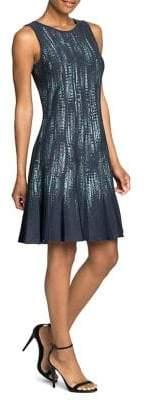Nic+Zoe Lighting Strike Sleeveless A-Line Dress