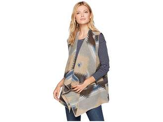 Tribal Vest with Draped Collar