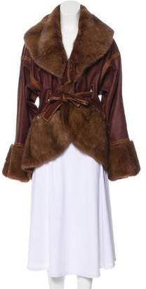 Fendi Mink Fur-Trimmed Shearling Coat