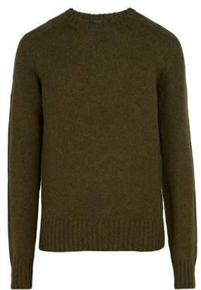 Prada Shetland Knit Wool Sweater - Mens - Khaki