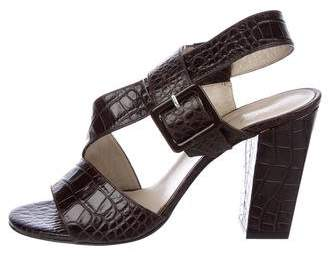 Robert Clergerie Embossed Leather Sandals