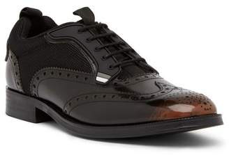 Steve Madden Portor Brogued Lace-Up Leather Derby