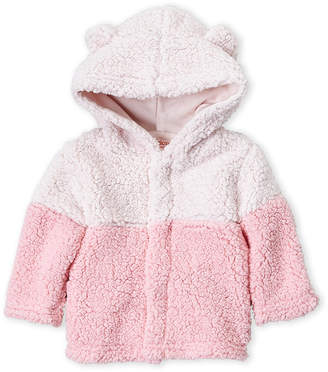 Magnificent Baby Smart Close By Newborn/Infant Girls) Two-Tone Sherpa Hoodie