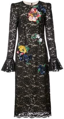 Monique Lhuillier flower lace gown