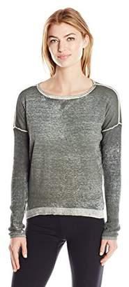 Blanc Noir Women's Pigment Printed Boyfriend Sweater