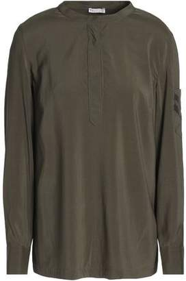 Brunello Cucinelli Bead-Embellished Silk Crepe De Chine Blouse