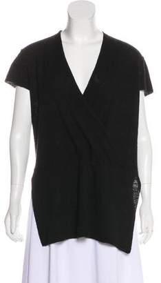 Eileen Fisher Wool Surplice Neck Tunic