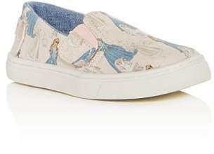 Toms x Disney Girls' Luca Princess Print Slip-On Sneakers - Baby, Walker, Toddler