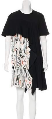 Adeam Short Sleeve Knee-Length Dress