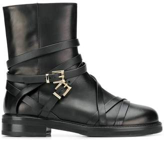 Cesare Paciotti side buckle boots