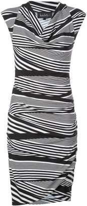 Nicole Miller striped midi dress