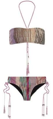 Missoni Mare Metallic Crochet-Knit Bandeau Bikini