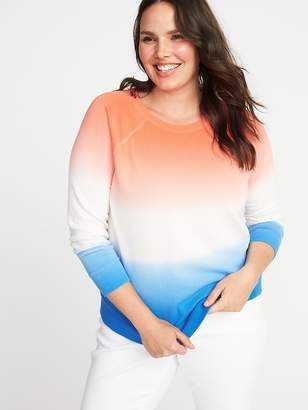 Old Navy Americana Plus-Size Dip-Dye French-Terry Sweatshirt
