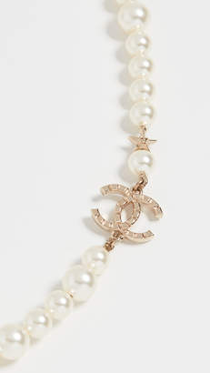 Chanel What Goes Around Comes Around Imitation Pearl and Star Necklace