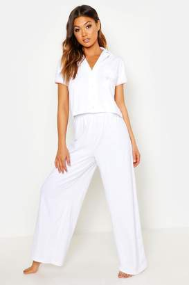 boohoo 'Bride' Pocket Print Button Through PJ Set