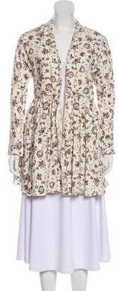 Marni Floral Open Front Cardigan