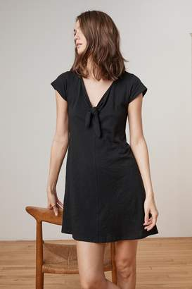 Velvet by Graham & Spencer LUISE COTTON SLUB SHORT SLEEVE TIE DRESS