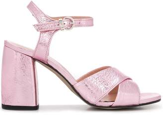 Pollini ankle strap sandals