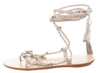 Loeffler Randall Embellished Lace-Up Sandals w/ Tags