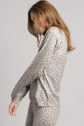 Ragdoll LA MINI LEOPARD KNIT SWEATSHIRT Beige Leopard