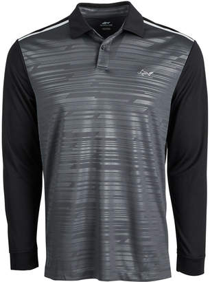 Greg Norman Attack Life by Men's Caven Printed Long-Sleeve Polo