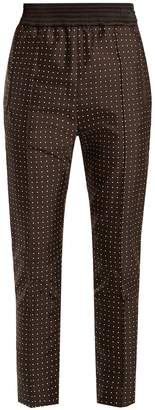 Haider Ackermann Soens polka-dot embroidered silk-blend trousers