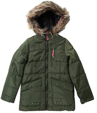 Jessica Simpson Expedition Parka With Faux Fur Trim (Big Girls)