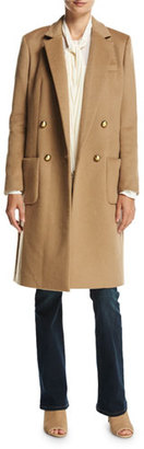 MICHAEL Michael Kors Tailored Double-Breasted Wool-Blend Coat, Dark Camel $495 thestylecure.com