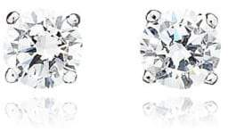 Crislu 0.50 ct. t.w. Brilliant Cut Cubic Zirconia Stud Earring