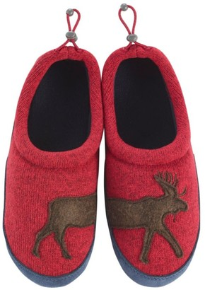L.L. Bean L.L.Bean Kids' Sweater Fleece Slippers, Motif