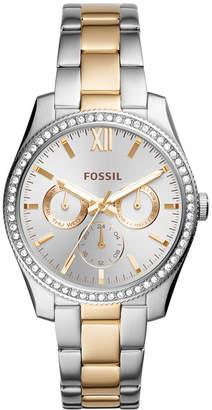 Fossil Women's Scarlette Two-Tone Stainless Steel Bracelet Watch 38mm