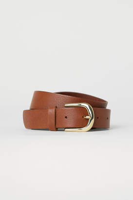 H&M Leather Belt - Beige