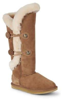 Australia Luxe Collective Nordic Shearling & Suede Tall Boots