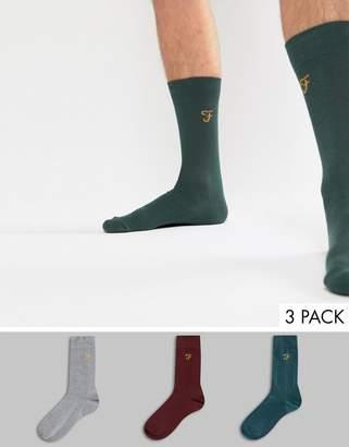Farah Benkwith 3 Pack Socks