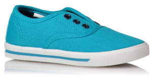 Slip On Lace-free Canvas Trainers