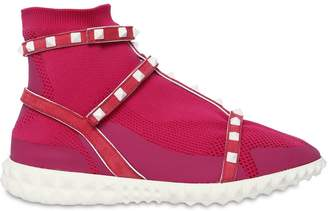 Valentino 30mm Rockstud Leather Sneakers