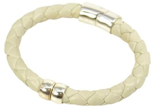 Bottega VenetaBottega Veneta White Leather Bracelet