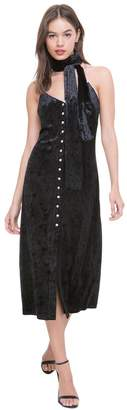 Juicy Couture Crushed Velour Scarf Slip Dress