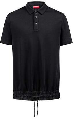 HUGO BOSS Relaxed-fit polo shirt with drawstring waist