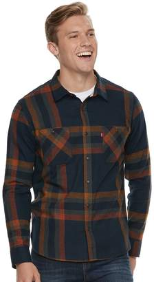 Levi's Levis Big & Tall Abbotts Flannel Button-Down Shirt