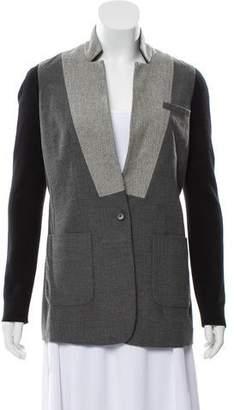 Yigal Azrouel Stand Collar Button-Up Blazer