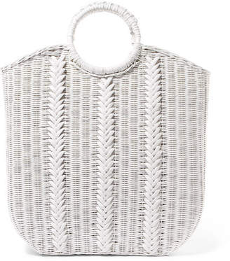 Ulla Johnson Rona Wicker Tote - White