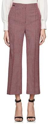 Fendi Women's Checked Wool Crop Trousers