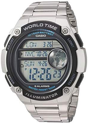 Casio Men's 'Classic' Quartz Resin and Stainless Steel Casual Watch