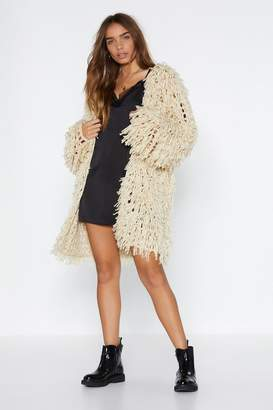 Nasty Gal Down Town Shaggy Cardigan