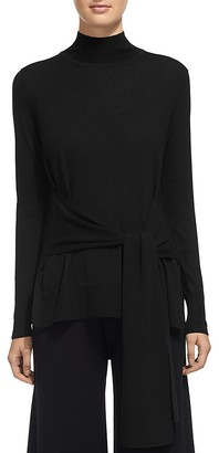 Whistles Merino Wool Tie-Front Sweater $210 thestylecure.com
