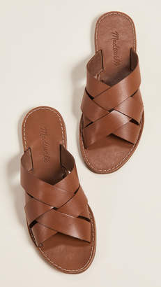 Madewell The Boardwalk Woven Slide Sandals